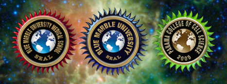 Blue Marble University and its two separate schools: Panama College of Cell Science; and Blue Marble University Medical School